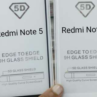 5D Full Adhesive Tempered Glass for Xiaomi Redmi Note 5