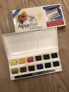 Aquafine Daler rowney watercolor pocket set