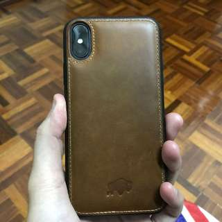 iPhone X Real Leather Casing by Burkley US