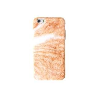 橘貓毛絨造型手機殼 i7+ i8+