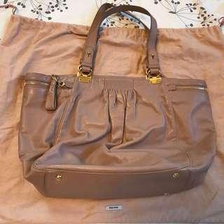 MiuMiu Leather Tote Bag