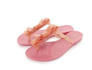 🚚 Melissa 香香鞋 巴西尺寸35,36,37,38(Mel 撞色蝴蝶結時尚 夾腳平底拖鞋-粉嫩橘)