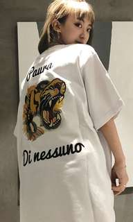 Gucci graphic oversize top/ tiger