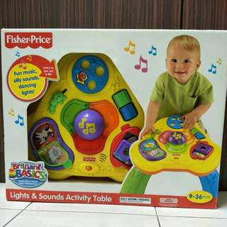 FISHER PRICE LIGHTS & SOUNDS ACTIVITY TABLE