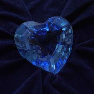 Swarovski membership gift blue heart (032)