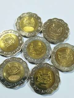 Sg old $5 coin 7pc x $13