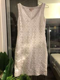 Banana Republic White Eyelet Dress