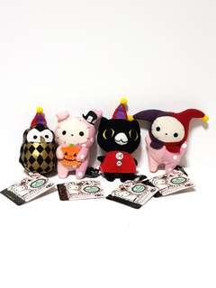 San-X Sentimental Circus Shappo Kuro Owl Plush Mascot Set