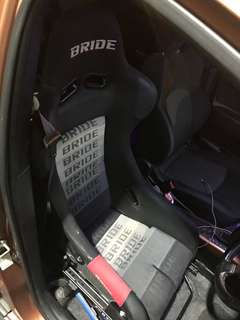 Bride full bucket seats for colt version r or lancer cs3 Previously fitted in cvr.