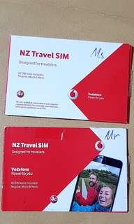 Vandafone SIM cards for New Zealand