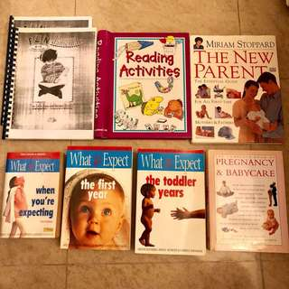 SALE!! Hardcover Books: Pregnancy, Babycare, What to Expect Series, Reading Activities