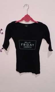Hello friday black