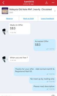 Bad New buyer : Kam0415 send offer , accepted , cancelled then send negative feedback , pls drive this user out of Carousell
