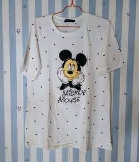 Kaos T-Shirt Putih Mickey Mouse