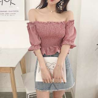 Off-Shoulder Blouse GIRLY (PO)