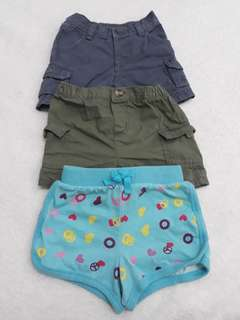 Bundle shorts for baby girls