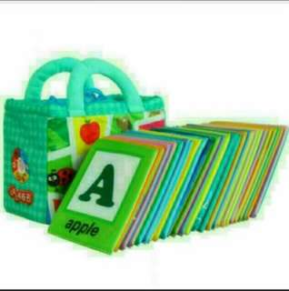 New stocks Brand new cloth flashcard abc to z come with free bag