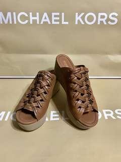全新Michael kors編織厚底拖鞋