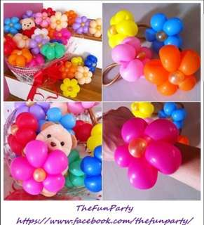Colourful flower balloon bands