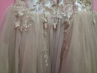 FOR SALE Beige/Gold Sparkly Ball Gown