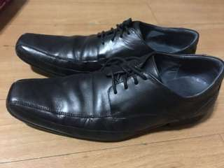 Hush Puppies Leather Shoes (Black)