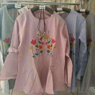 Peplum soft cotton lelong rm20 free size s-l