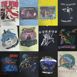 Vintage 70s/80s Rock Band Shirts
