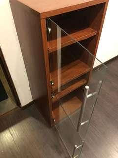 IKEA 2glass doors 4shelves storage / display