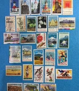 USA 30 Different Commemoratives  Used Selection B