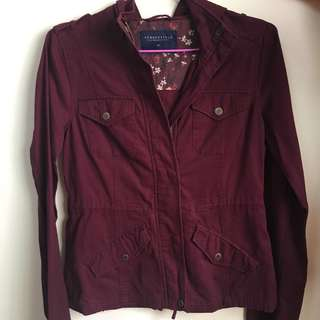 Aeropostale Purple Trench Coat