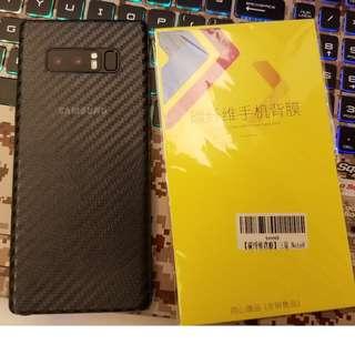 Carbon fiber back film Samsung Note 8, s8+, S9+