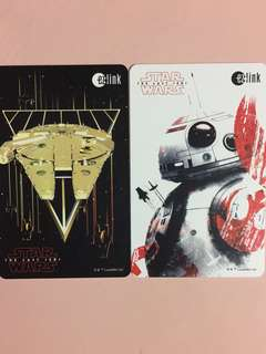 Limited Edition brand new GV Star Wars BB8 And Falcon Millennium Design ezlink Cards For $9 EACH.