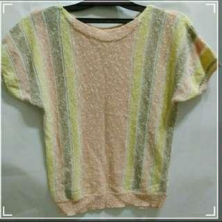 粉彩線衫上衣