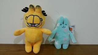 加菲貓+角落生物兩隻-賣場商品歡迎搭配
