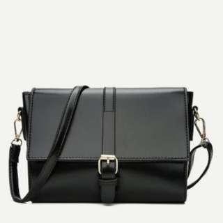 Buckle Decor Flap Shoulder Bag