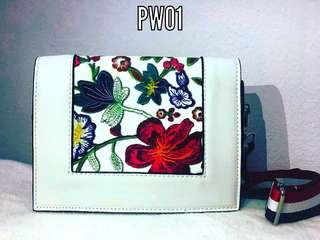 Sling Bag White Floral