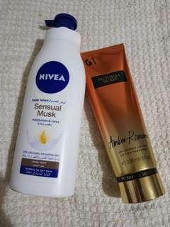 Victoria's Secret Fragrance Lotion and Nivea Sensual Musk Body Lotion
