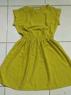 [Reprice] Dress Hijau Kekuningan