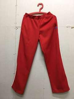 正Adidas紅色運動褲