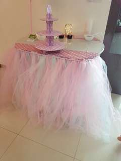 Tutu party table skirting