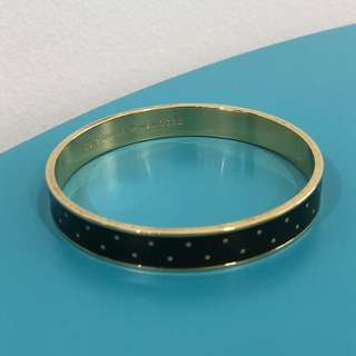 Kate Spade Black and White Polka Dot Bangle