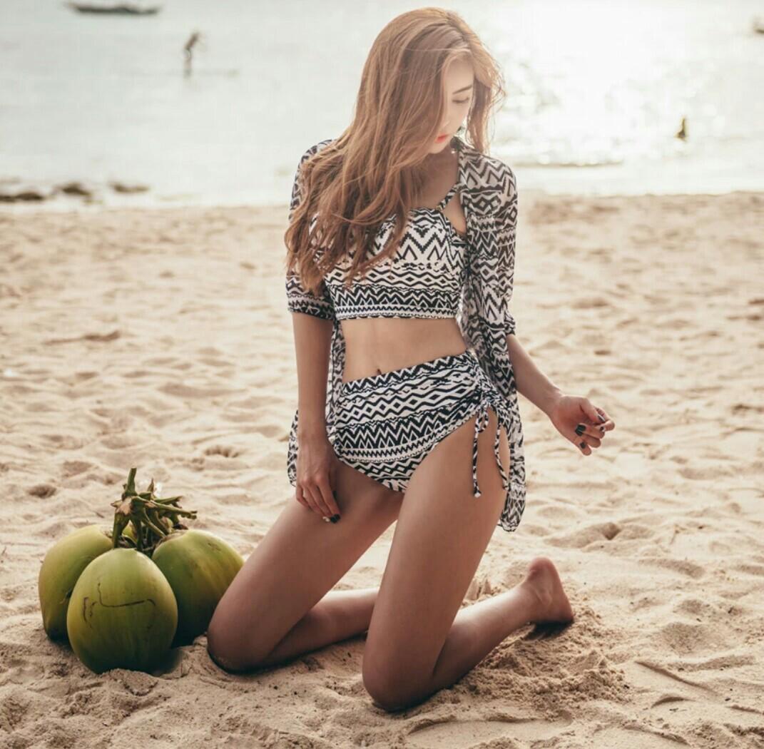 現貨女神海島度假性感兩截式泳衣