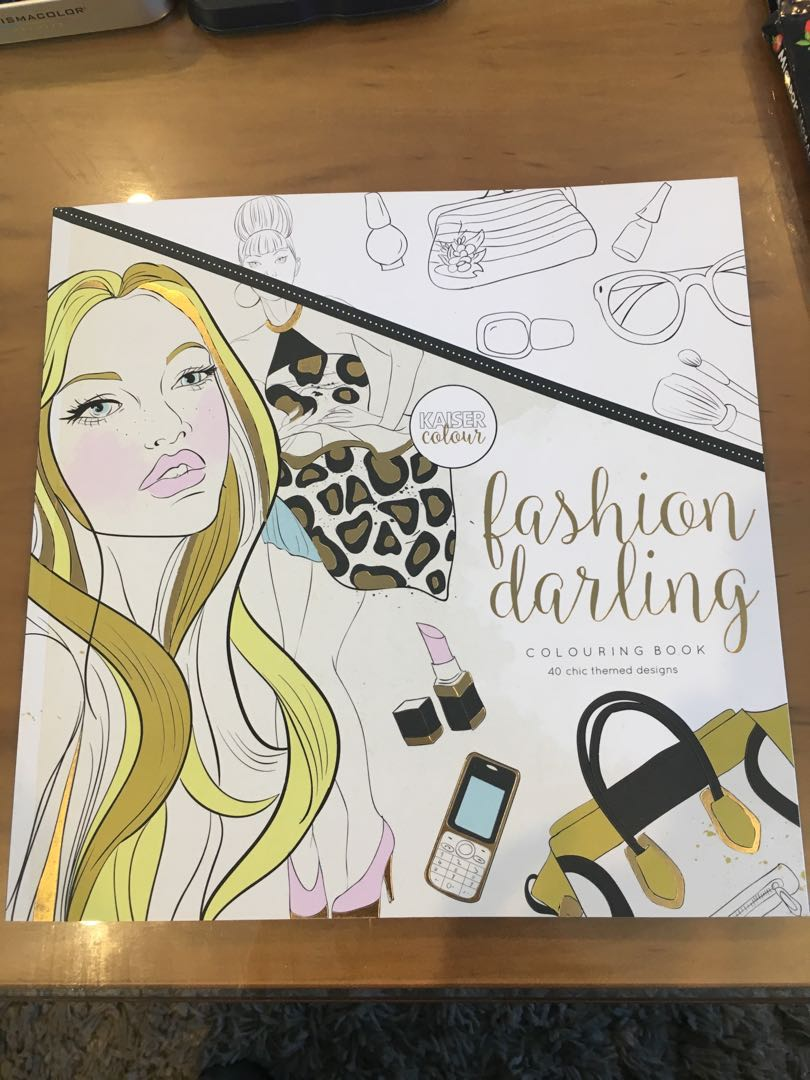 Adult Colouring Book - Fashion Darling