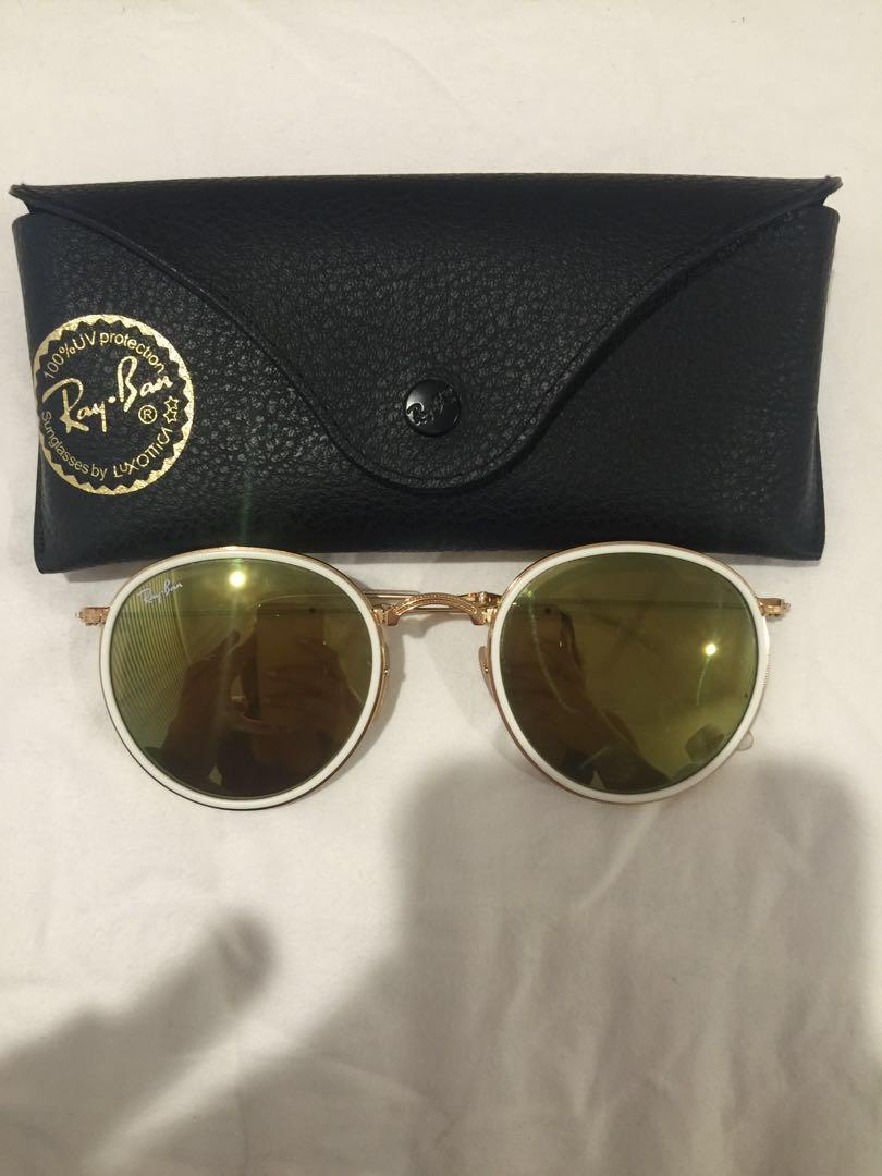 Authentic rayban folding round sunglasses RB3517