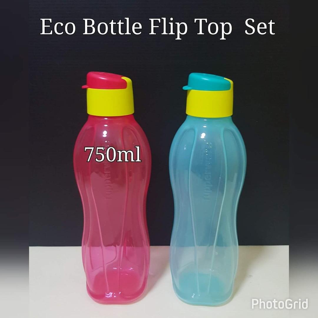 Authentic Tupperware Eco Bottle 750ml Flip Top Retail Price S$12.50 ...