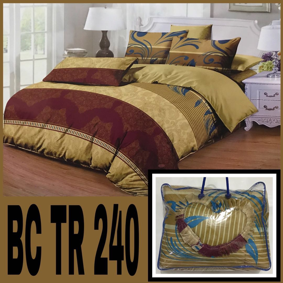 Bedcover set king queen size termurah home furniture on carousell
