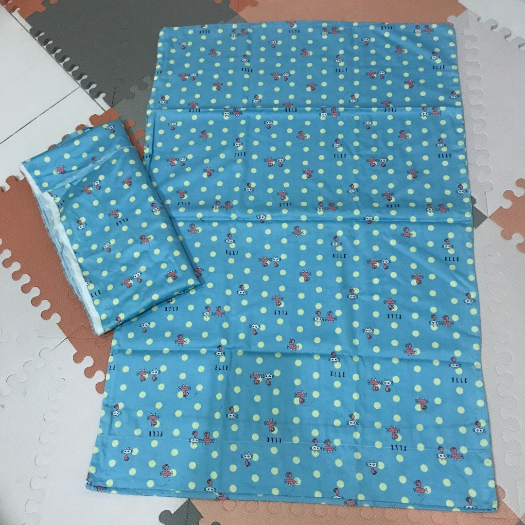 Blue Polka Dot Baby Bed Sheet Crib Sheet Comforter Cover Aprica Coconel