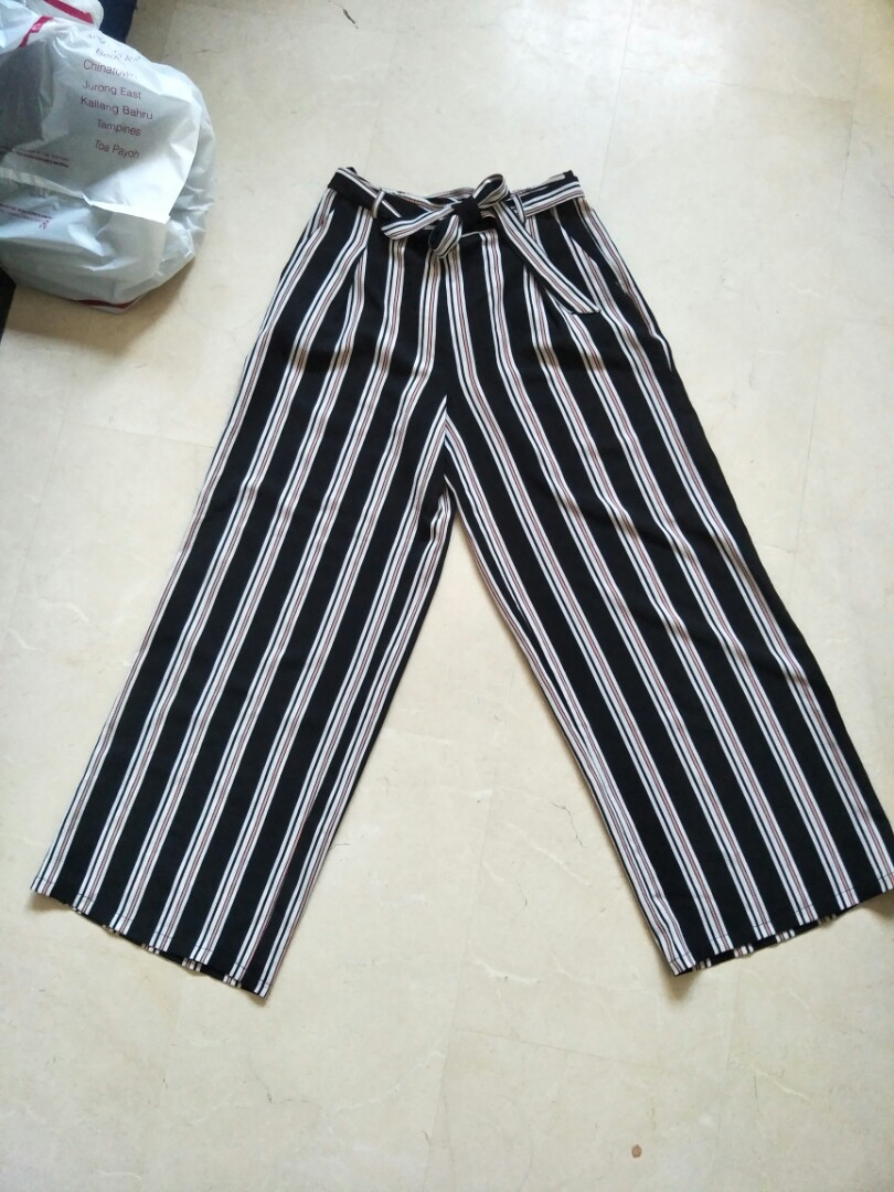 5d244a2e921860 BNWT Primark Atmosphere Striped Pants, Women's Fashion, Clothes, Pants,  Jeans & Shorts on Carousell
