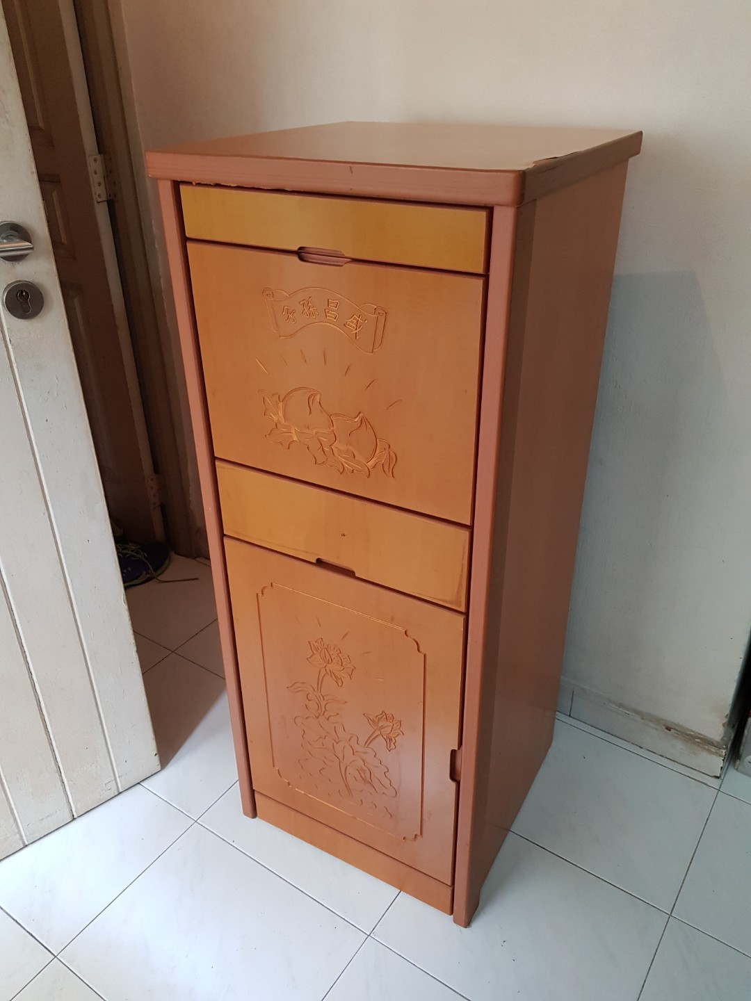 Prayer Cabinet With Extendable Mini Table, Furniture, Shelves U0026 Drawers On  Carousell