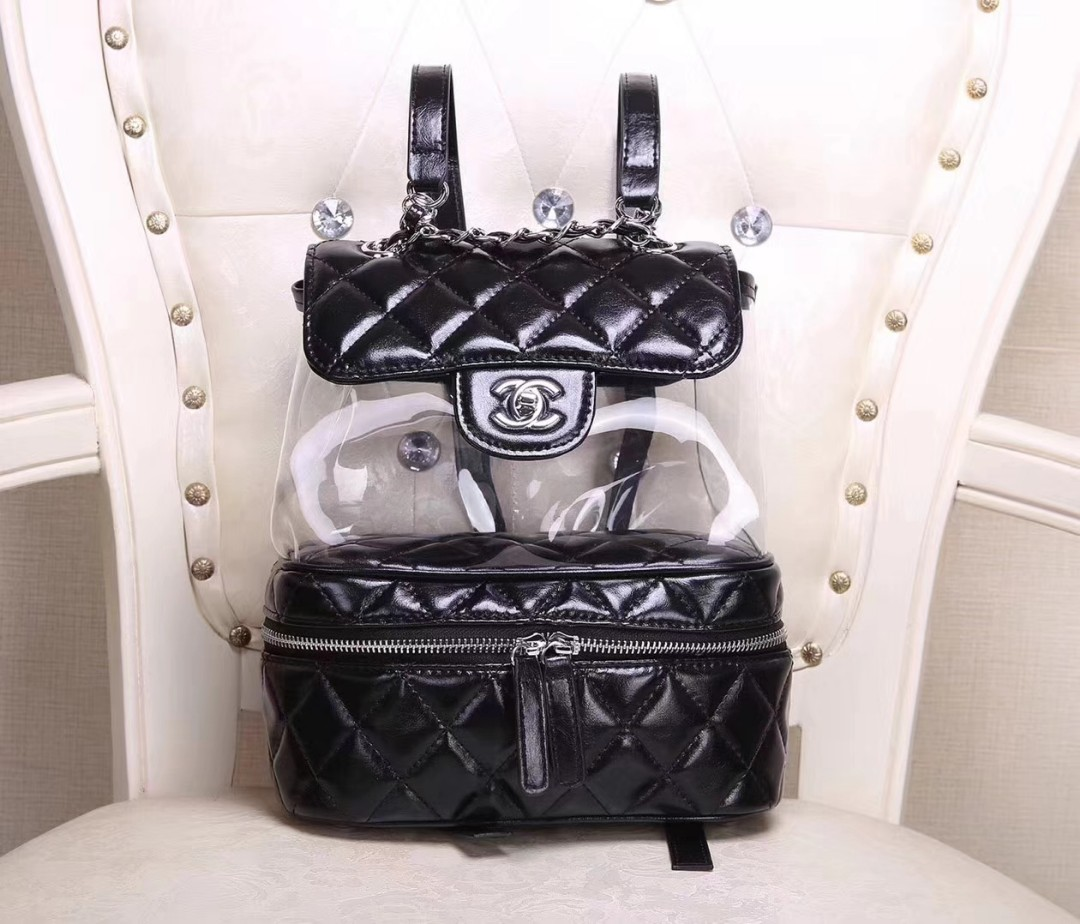 4c1236ab8b65fe Chanel Transparent Backpack, Women's Fashion, Bags & Wallets on Carousell